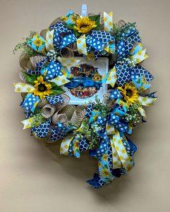 Suflower Decomesh Wreath