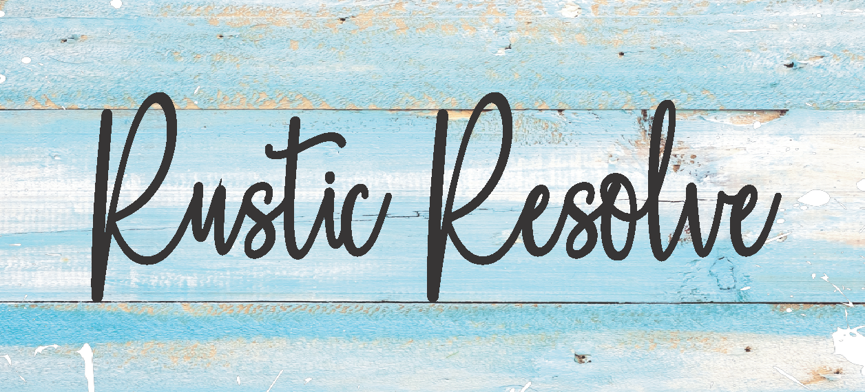 Distressed wood with text rustic resolve
